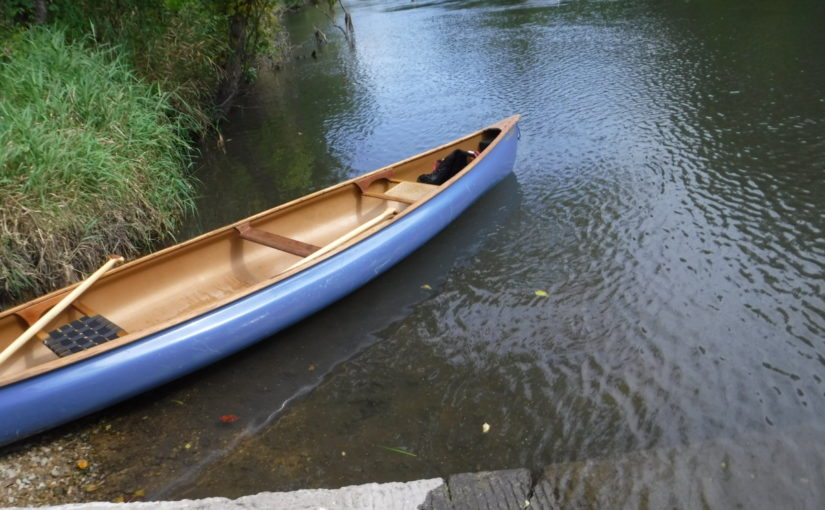 Our kevlar Bell Starfire canoe at take out